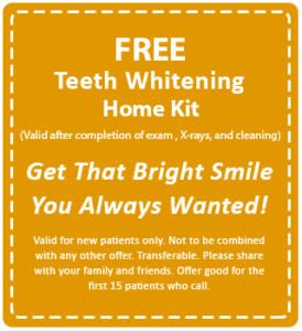 Free Teeth Whitening Home Kit Special Offer